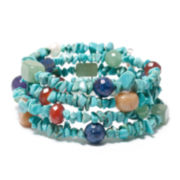 Multi-Gemstone Wrap Bracelet