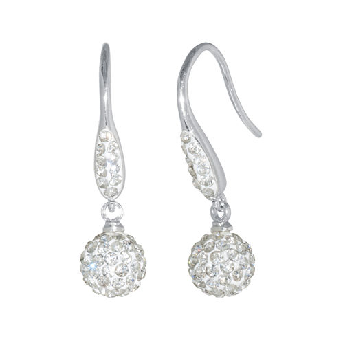 Sparkle Allure White Crystal Drop Earrings