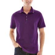 Claiborne® Short-Sleeve Tipped Piqué Polo