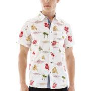 Eighty Eight Short-Sleeve Printed Woven Shirt