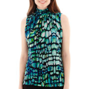 Worthington® Sleeveless Ruched Halter Top