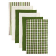 Bardwil Set of 6 Woven Terry Kitchen Towels