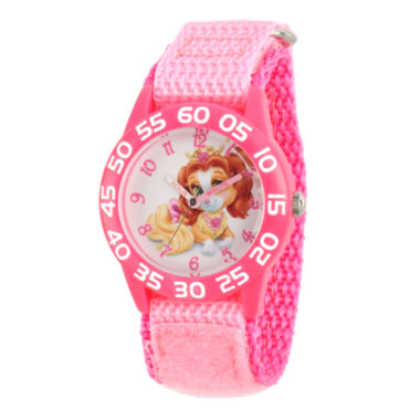 jcpenney.com | Disney Girls Palace Pets Pink Teacup Time Teacher Strap Watch W002824