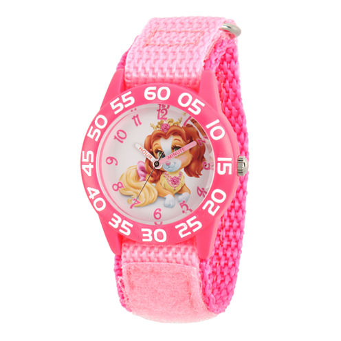 Disney Girls Palace Pets Pink Teacup Time Teacher Strap Watch W002824