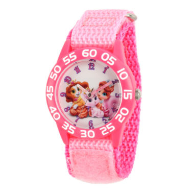 jcpenney.com | Disney Girls Pink Palace Pets Time Teacher Strap Watch W002832