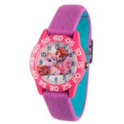 Disney Girls Purple Palace Pets Time Teacher Strap Watch W002833