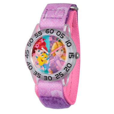jcpenney.com | Disney Princess Girls Pink and Silver Tone Princesses Time Teacher Strap Watch W002955
