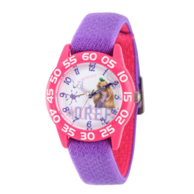 jcpenney.com | Disney Princess Girls Purple and Pink Tangled Time Teacher Strap Watch W002969