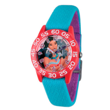 jcpenney.com | Disney Princess Girls Blue Pocahontas Time Teacher Strap Watch W002974
