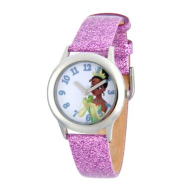 jcpenney.com | Disney Princess Girls Purple Glitz and Silver Tone Tiana Strap Watch W002979