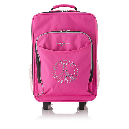 Obersee® Kids Peace Sign Luggage with Integrated Cooler