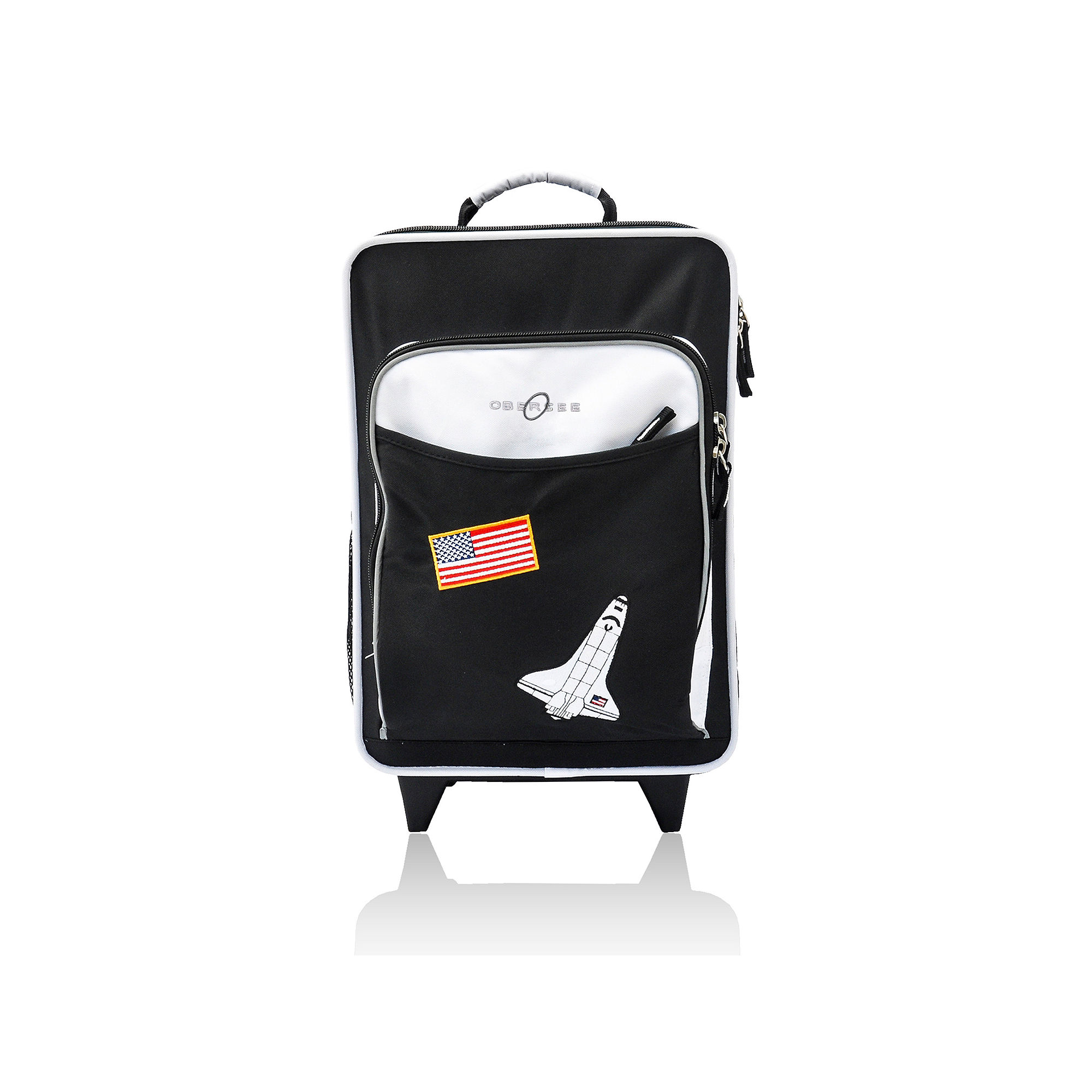 Obersee Kids Space Upright Roller Luggage with Integrated Cooler