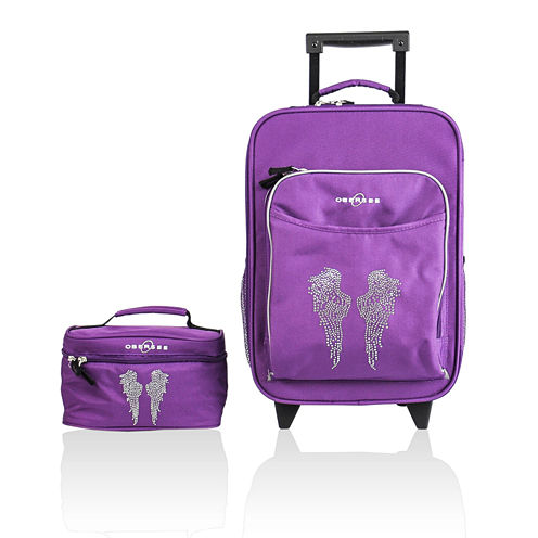 Obersee® Kids 2-pc. Angel Wings Luggage & Toiletry Bag Set