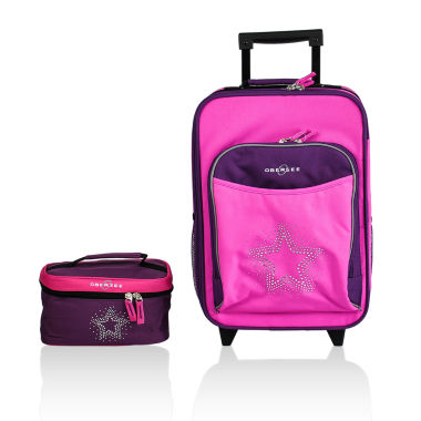jcpenney.com | Obersee® Kids 2-pc. Bling Star Luggage & Toiletry Set