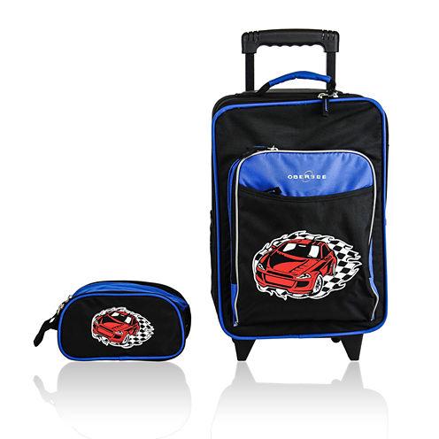 Obersee® Kids 2-pc. Racecar Luggage & Toiletry Bag Set