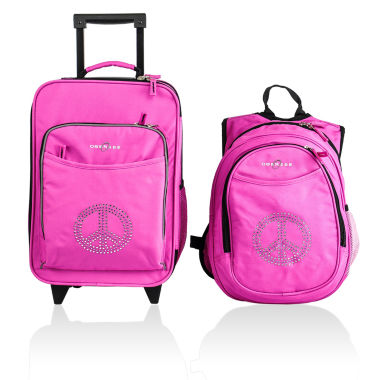 jcpenney.com | Obersee® Kids 2-pc. Peace Sign Luggage & Backpack with Cooler Set