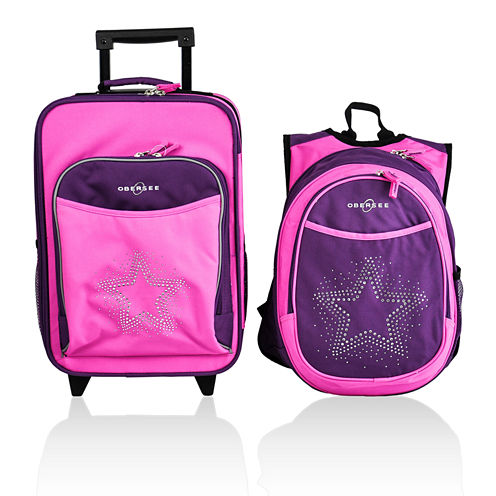 Obersee® Kids 2-pc. Bling Star Luggage & Backpack with Cooler Set