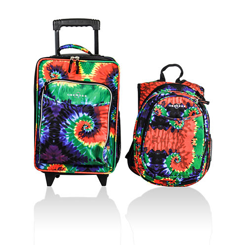 Obersee Kids Suitcase and Backpack Set with Integrated Cooler