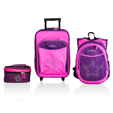 jcpenney.com | Obersee® Little Kids 3-pc. Bling Star Luggage, Backpack & Toiletry Bag Set