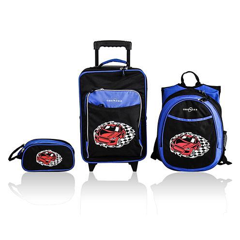 Obersee® Little Kids 3-pc. Racecar Luggage, Backpack & Toiletry Bag Set