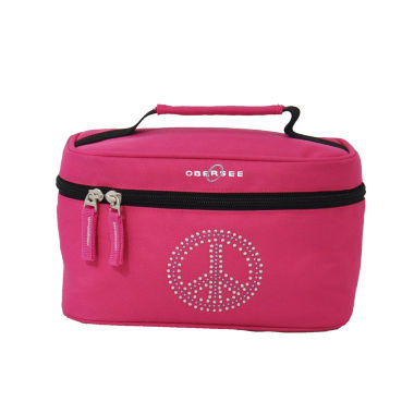 jcpenney.com | Obersee® Rhinestone Peace Toiletry Bag