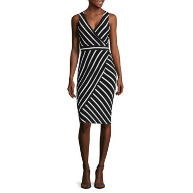 jcpenney.com | nicole by Nicole Miller® Sleeveless Striped Sheath Dress