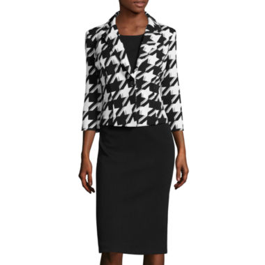 jcpenney.com | Danny & Nicole® 3/4-Sleeve Houndstooth Jacket Dress