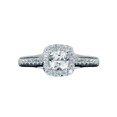 jcpenney.com | Modern Bride® Signature 1 1/2 CT. T.W. Diamond 14K White Gold Halo Engagement Ring