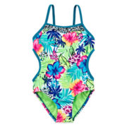 Breaking Waves Amazon Cutie One-Piece Swimsuit - Girls 4-16