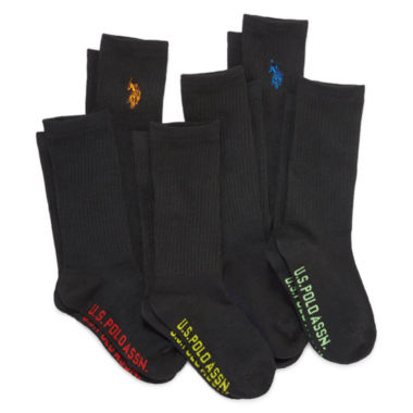 jcpenney.com | U.S. Polo Assn.® Assorted 6-pk. Crew Socks - Boys