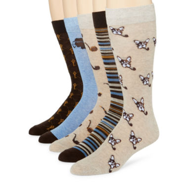 jcpenney.com | Stafford® 5-pk. Cotton-Rich Crew Socks