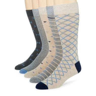 jcpenney.com | Stafford® 5-pk. Cotton-Rich Crew Socks - Big & Tall