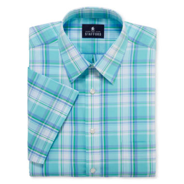 jcpenney.com | STAFFORD TRAVEL SHORT-SLEEVE BROADCLOTH DRESS SHIRT