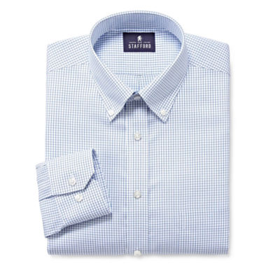 jcpenney.com | Stafford® Executive Pinpoint Oxford Dress Shirt - Big & Tall