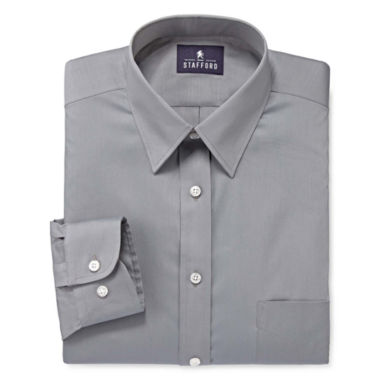 jcpenney.com | Stafford® Comfort Stretch Broadcloth Dress Shirt - Big & Tall