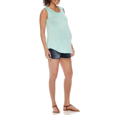 jcpenney.com | Maternity Mix Media Tank or Overbelly Shorts