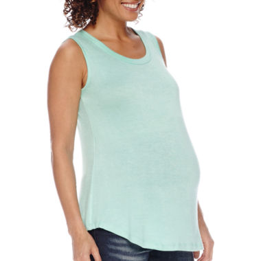 jcpenney.com | Maternity Mix Media Tank - Plus