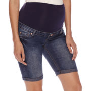 Maternity Overbelly Bermuda Shorts