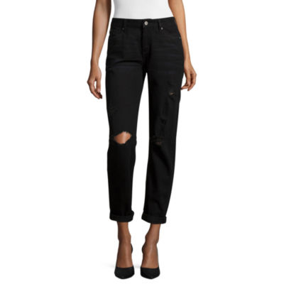 Arizona Destructed Boyfriend Jeans - Juniors - JCPenney