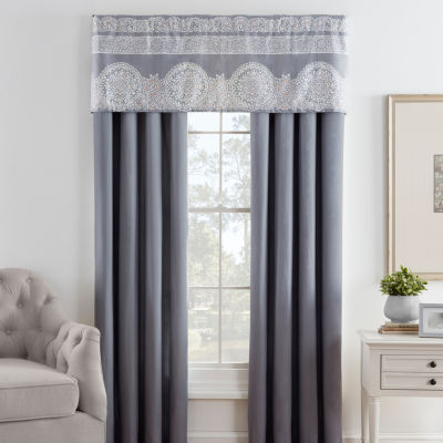 Eva Longoria Home Bethany 2-Pack Rod-Pocket/Tab-Top Curtain Panels