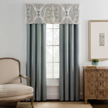 jcpenney.com | Eva Longoria Home Briella 2-Pack Rod-Pocket/Back-Tab Lined Curtain Panels