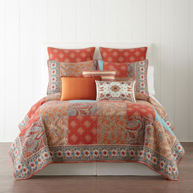 jcpenney home™ morocco quilt & accessories - jcpenney