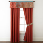 "JCPenney Home™ Morocco 84"" 2-Pack Rod-Pocket/Back-Tab Lined Curtain Panels"