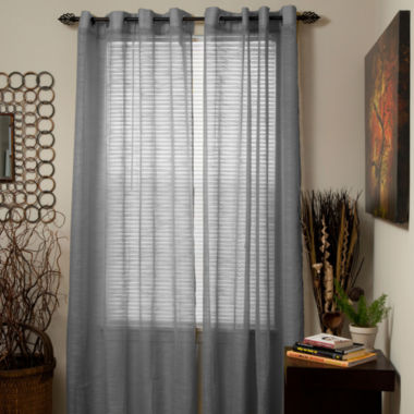 jcpenney.com | Cambridge Home Mia Jacquard Grommet-Top Curtain Panel