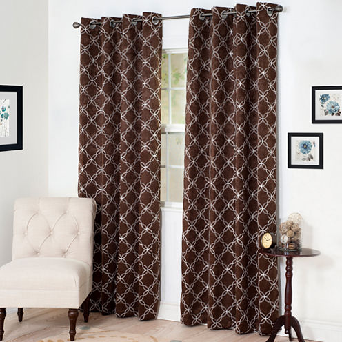 Cambridge Home Myra Room-Darkening Grommet-Top Curtain Panel