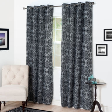 jcpenney.com | Cambridge Home Dana Flocked Grommet-Top Curtain Panel