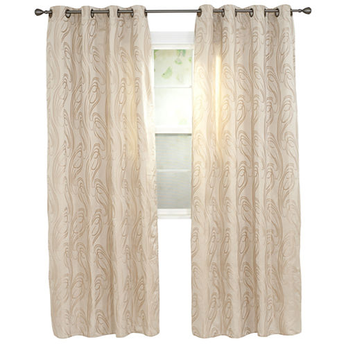 Cambridge Home Dinah Jacquard Grommet-Top Curtain Panel