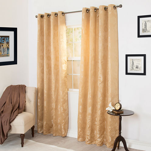 Cambridge Home Cassia Jacquard 2-Pack Grommet-Top Curtain Panels