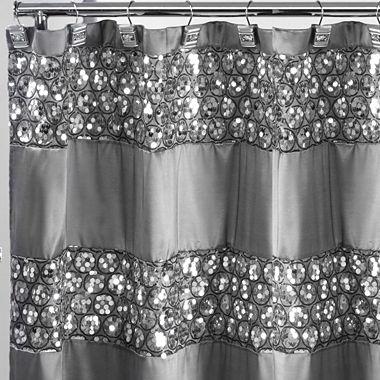 Popular Bath Sinatra Silver Shower Curtain - JCPenney