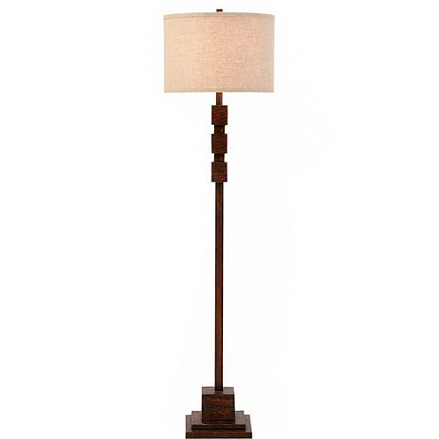 Catalina Faux-Wood Floor Lamp